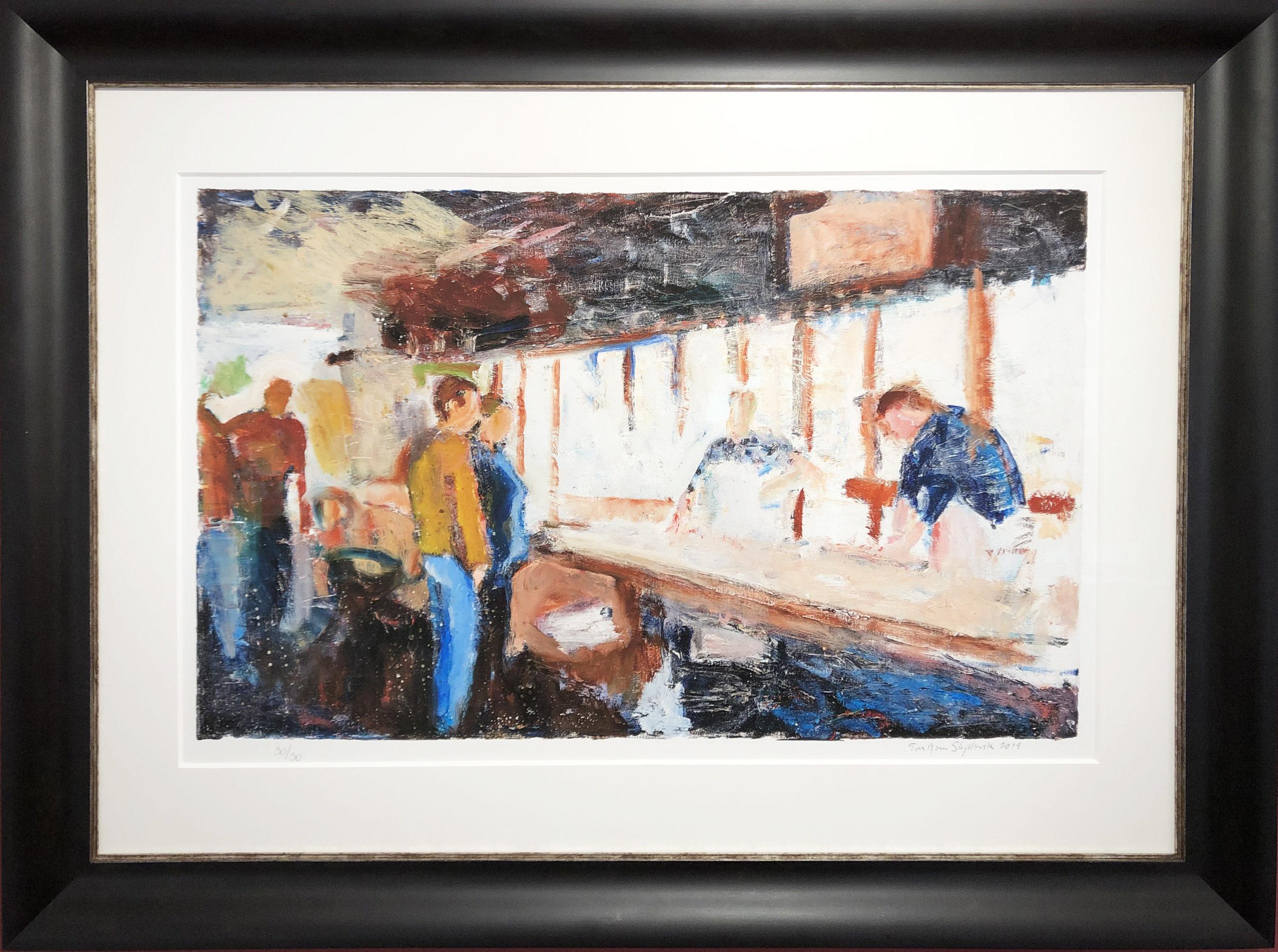 Bilde av kunsttrykket Hos Fiskehandleren