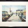 The harbor with frame