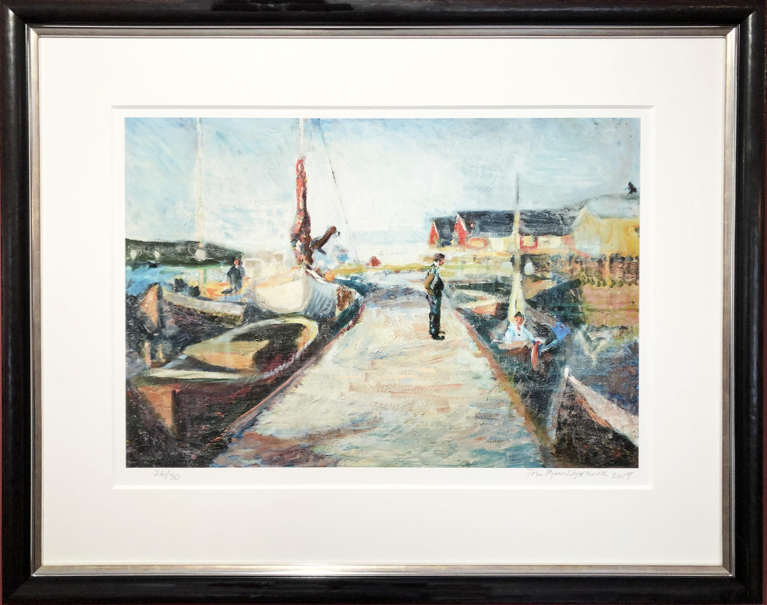 Bilde av kunsttrykket Havnen